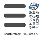 menu items icon with bonus... | Shutterstock . vector #488526577