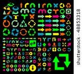 set of arrows. vector great... | Shutterstock .eps vector #48853318