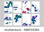 trendy geometric elements.... | Shutterstock .eps vector #488533381