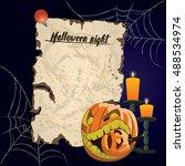 vector vintage parchment.... | Shutterstock .eps vector #488534974