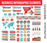 big set of business infographic ... | Shutterstock .eps vector #488540545