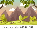 beautiful landscape. scenery.... | Shutterstock .eps vector #488541637