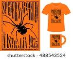 pattern design concept for... | Shutterstock .eps vector #488543524
