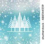 vector christmas background ...   Shutterstock .eps vector #488544559