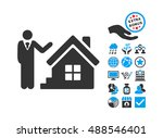 realty agent pictograph with... | Shutterstock .eps vector #488546401