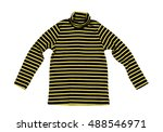 striped yellow black knitted... | Shutterstock . vector #488546971