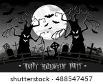 halloween background. scary... | Shutterstock .eps vector #488547457