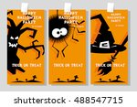 set of funny holiday banner ... | Shutterstock .eps vector #488547715