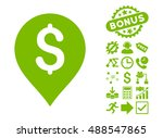 banking map marker icon with... | Shutterstock .eps vector #488547865