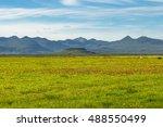 icelandic colorful landscape on ... | Shutterstock . vector #488550499