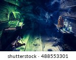 magical witch hut full of... | Shutterstock . vector #488553301