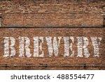brick brewery | Shutterstock . vector #488554477