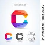 vector abstract letter c logo... | Shutterstock .eps vector #488560159