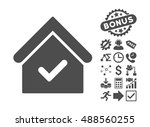 valid house pictograph with... | Shutterstock .eps vector #488560255