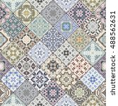 abstract patterns in the mosaic ... | Shutterstock .eps vector #488562631
