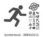 running man icon with bonus... | Shutterstock .eps vector #488563111