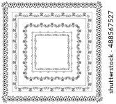sweet doodle borders | Shutterstock .eps vector #488567527