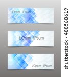 set of three banners with with... | Shutterstock .eps vector #488568619