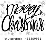 merry christmas. holiday... | Shutterstock .eps vector #488569981