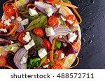 vegetarian tortillas taco wrap...   Shutterstock . vector #488572711