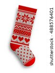 Knitted Christmas Stocking Wit...