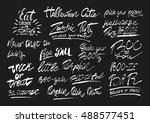 handwritten halloween phrases...   Shutterstock .eps vector #488577451