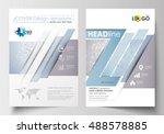 business templates for brochure ... | Shutterstock .eps vector #488578885
