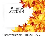 autumn background with fall... | Shutterstock .eps vector #488581777