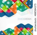 geometric vector abstract... | Shutterstock .eps vector #488584375