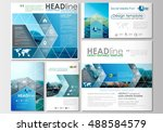 social media posts set.... | Shutterstock .eps vector #488584579