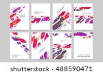 abstract business brochure... | Shutterstock .eps vector #488590471