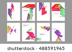 design layout template in a4... | Shutterstock .eps vector #488591965