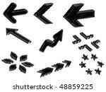 3d arrow drawn by hand | Shutterstock .eps vector #48859225