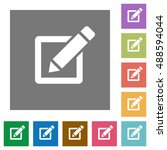 editor flat icon set on color... | Shutterstock .eps vector #488594044