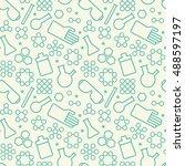 green chemistry symbols on...   Shutterstock .eps vector #488597197