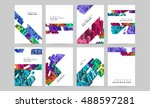 abstract vector compositions... | Shutterstock .eps vector #488597281