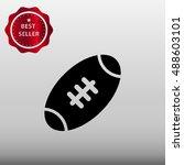 american football ball vector... | Shutterstock .eps vector #488603101