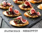 Canape Or Crostini With Toaste...