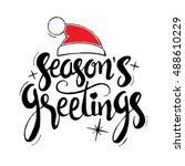 season's greetings lettering.... | Shutterstock .eps vector #488610229