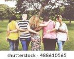women female feminism lady... | Shutterstock . vector #488610565