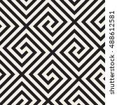 vector seamless pattern. modern ... | Shutterstock .eps vector #488612581