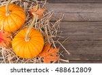 Colorful Autumn Pumpkins On...