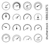 collection of speedometer icons ... | Shutterstock .eps vector #488613871