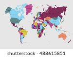 world map countries. world map... | Shutterstock .eps vector #488615851