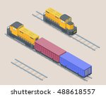 vector isometric illustration... | Shutterstock .eps vector #488618557