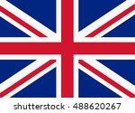 flag of united kingdom | Shutterstock .eps vector #488620267