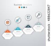 vector illustration of four... | Shutterstock .eps vector #488622847
