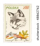 poland   circa 1981  a stamp... | Shutterstock . vector #48862762