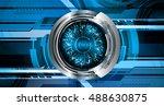 future technology  blue silver