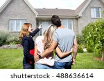 real estate agent woman with... | Shutterstock . vector #488636614